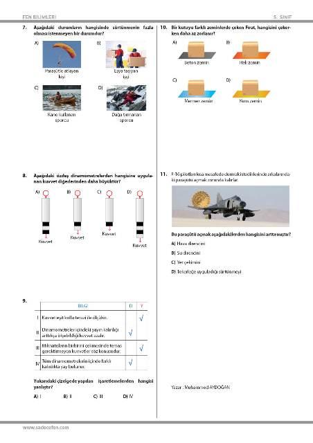 5. Sınıf Kuvvet Testi 2