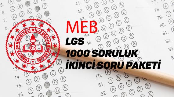 MEB 1000 Soruluk Paketin Sadece Fen Soruları