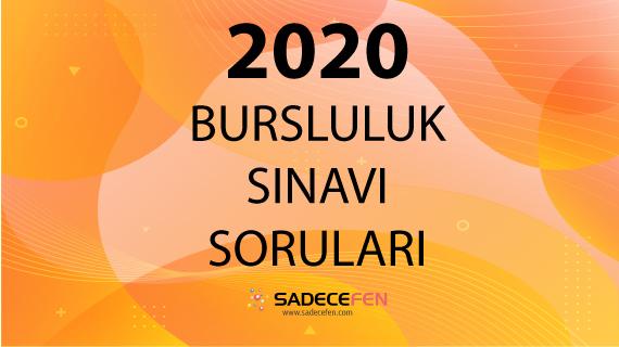 2020 Bursluluk Sınavı Soruları