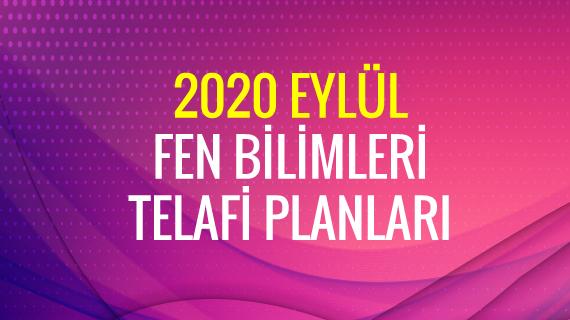 2020 Telafi Fen Planları